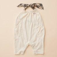 KA星星熊有機棉綁帶連身褲(米色)