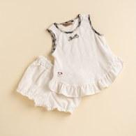 KA星星熊有機棉女童套裝 (米色)