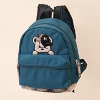 KA經典格紋素色搭配熊熊BABY後背包(共二色)