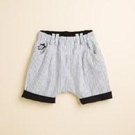 KA條紋配色反折休閒褲