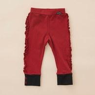 KA側邊抓褶棉質內搭褲(共二色)
