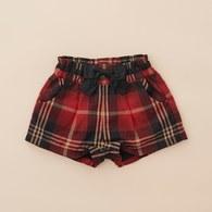 KA紅格紋蝴蝶結短褲(紅色)