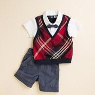 KA 紳士小領結假二件式套裝