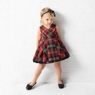 KA氣質紅格女洋裝